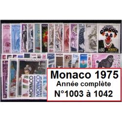 Timbres Monaco 1975 année...