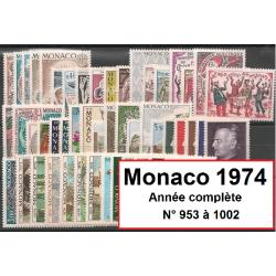 Timbres Monaco 1974 année...