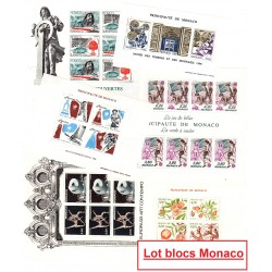 Lot 15 Blocs Monaco toutes...