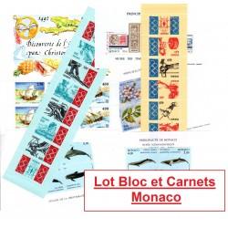 Lot 9 Blocs et 6 Carnets...