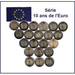 Série 2 Euros commémorative...