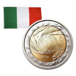 2 Euros commémorative Italie 2004