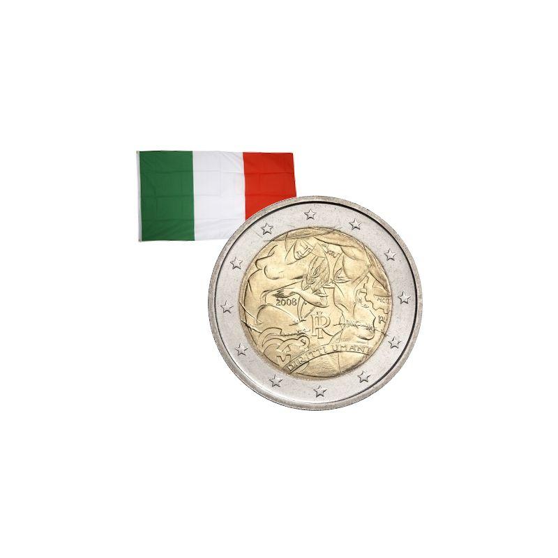 2 Euros commémorative Italie 2008