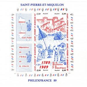 St-Pierre et Miquelon Bloc Feuillet n°3