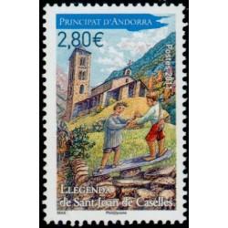 Timbre Andorre Français n°704