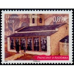 Timbre Andorre Français n°715