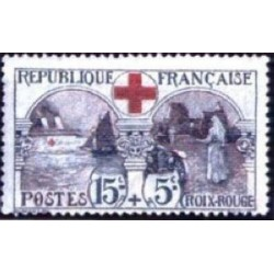 Timbre France croix rouge...