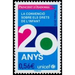 Timbre Andorre Français n°688