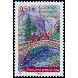 Timbre Andorre Français n°669