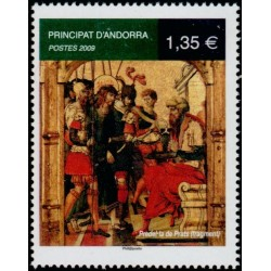 Timbre Andorre Français n°672