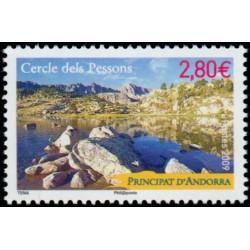 Timbre Andorre Français n°676