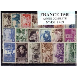 Timbres France 1940 année...