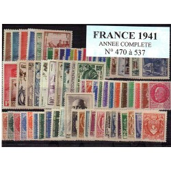 Timbres France 1941 année...
