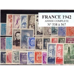 Timbres France 1942 année...