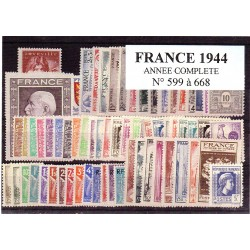 Timbres France 1944 année...
