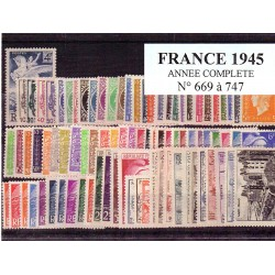 Timbres France 1945 année...