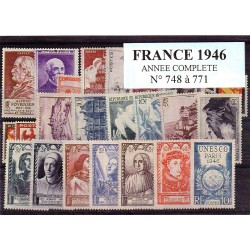Timbres France 1946 année...