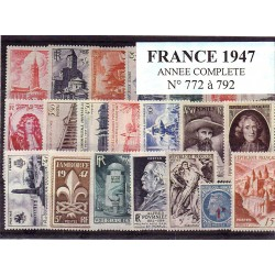 Timbres France 1947 année...