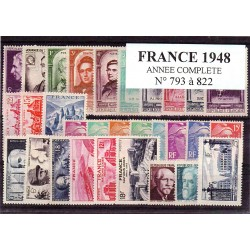 Timbres France 1948 année...