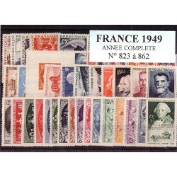 Timbres France 1949 année...