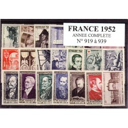 Timbres France 1952 année...