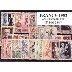 France 1953 année complète
