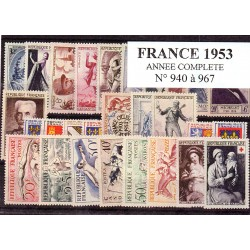 Timbres France 1953 année...