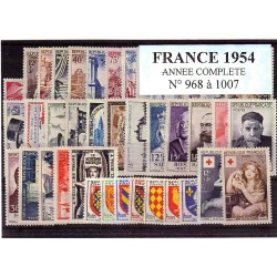 Timbres France 1954 année...