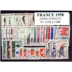 France 1958 année complète