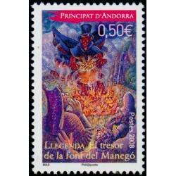 Timbre Andorre Français n°652
