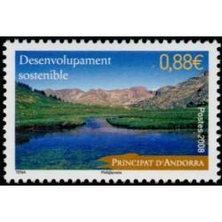 Timbre Andorre Français n°663
