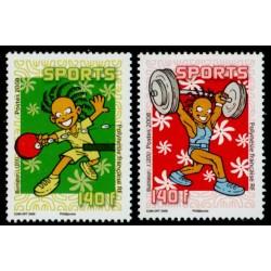 Timbre Polynésie n°840 et 841