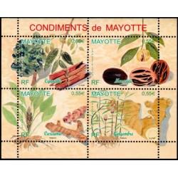 Timbre Mayotte n°210 à 213