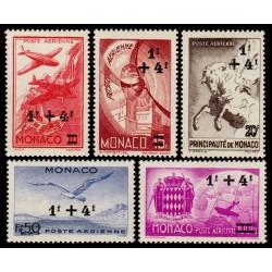 Poste Aérienne Monaco n°8 à 12