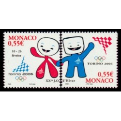 Timbre Monaco n°2529 et 2530