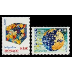 Timbre Monaco n°2542 et 2543