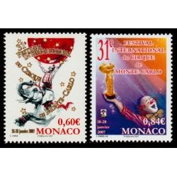 Timbre Monaco n°2566 et 2567