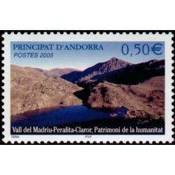 Timbre Andorre Français n°605