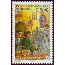 Timbre Andorre Français n°591