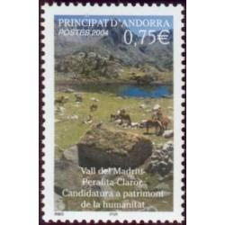 Timbre Andorre Français n°596