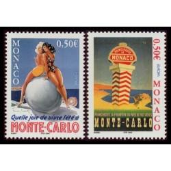 Timbre Monaco n°2437 et 2438
