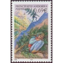Timbre Andorre Français n°576