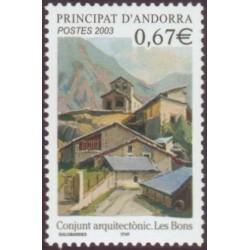 Timbre Andorre Français n°578