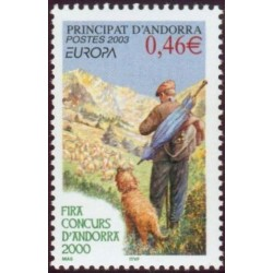 Timbre Andorre Français n°580
