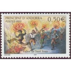 Timbre Andorre Français n°581