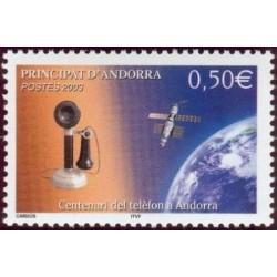 Timbre Andorre Français n°586
