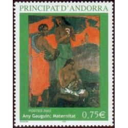 Timbre Andorre Français n°587