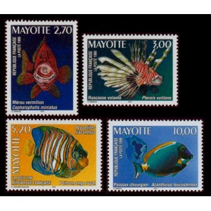 Timbre Mayotte n°71 à 74