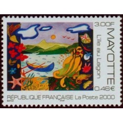 Timbre Mayotte n°84