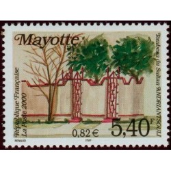 Timbre Mayotte n°87